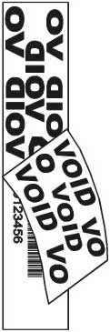 VOID TAMPER EVIDENT LABEL